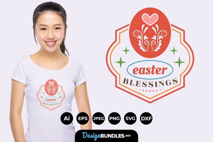 Easter Blessings Hand Lettering SVG example image 1