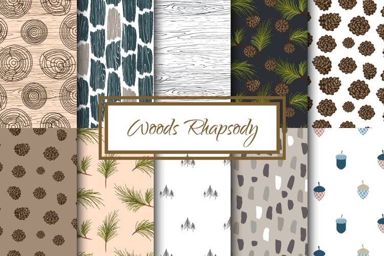 Woods Rhapsody Seamless Patterns