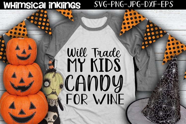 Candy For Wine-Halloween SVG example image 1