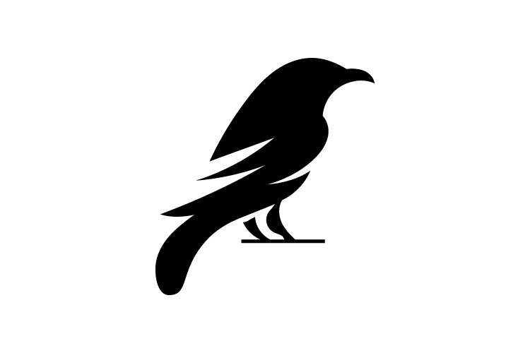 Raven logo template - Eps 10 example image 1