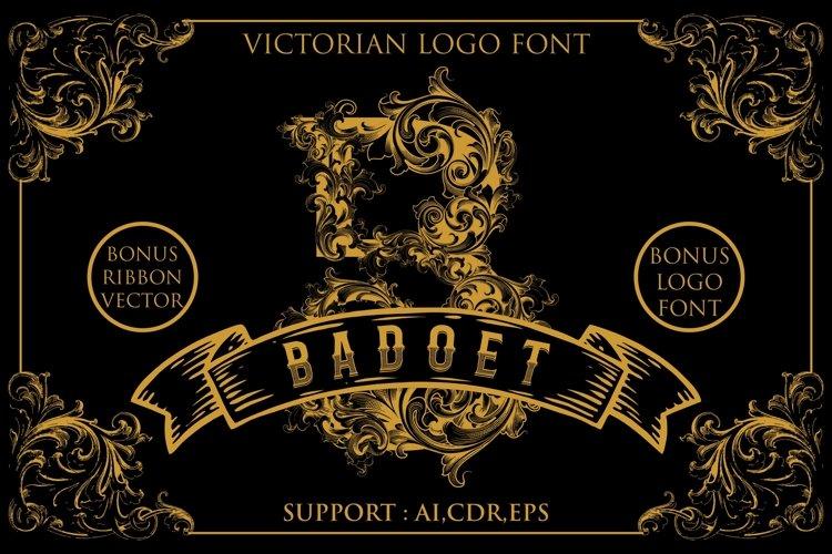 Badoet | Victorian Logo Fonts example image 1
