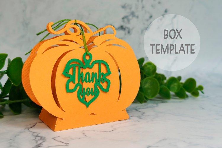 Pumpkin favor box template, Thanksgiving box svg