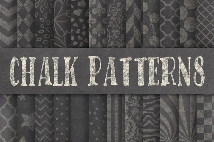 Patterned Chalk Textures Digital Paper example image 1