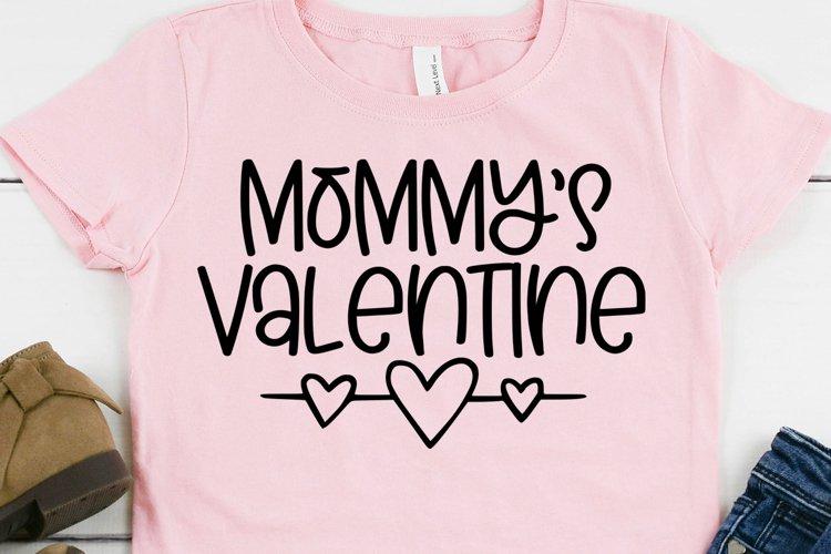 Mommy's Valentine SVG - Valentines Day SVG - Digital File example image 1