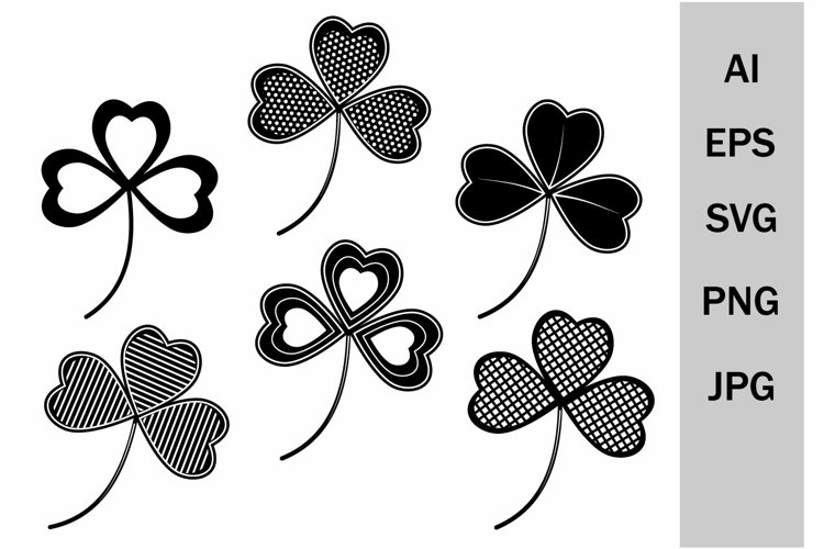 SVG clover with an ornament for Patrick's Day example image 1