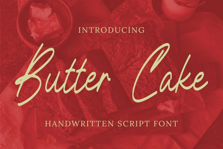 Web Font Butter Cake Font example image 1