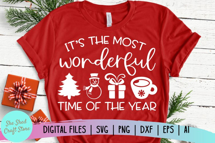 Its The Most Wonderful Time Of The Year SVG, Christmas SVG example image 1