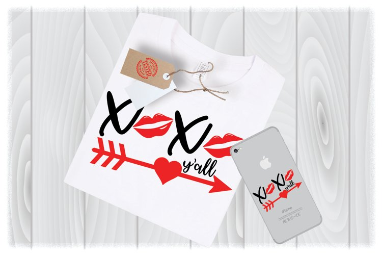 XOXO Y'all SVG Files for Cricut Designs | Valentines Day SVG example image 1