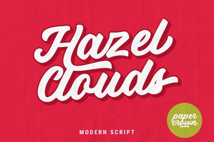 Hazel Clouds Modern Script example image 1