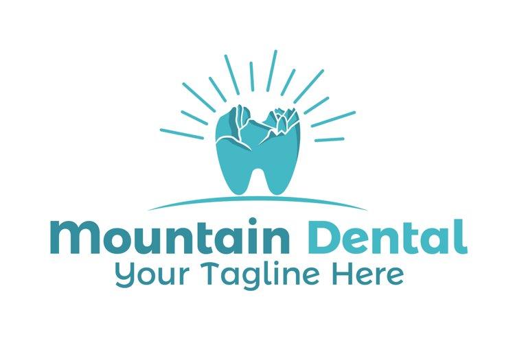 Mountain dental logo example image 1