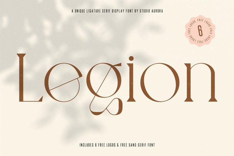 Legion - Ligature Display Serif Font