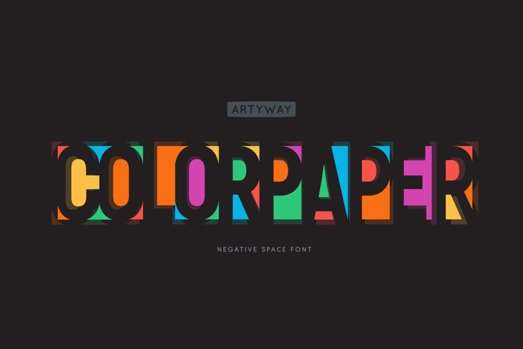 Negative Space Font example image 1