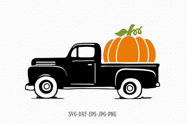 Pumpkin Truck svg, Fall Truck svg, Vintage Truck svg