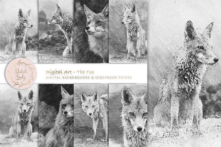 Digital Drawings - The Fox