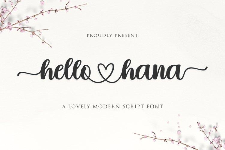 Hello Hana Script example image 1