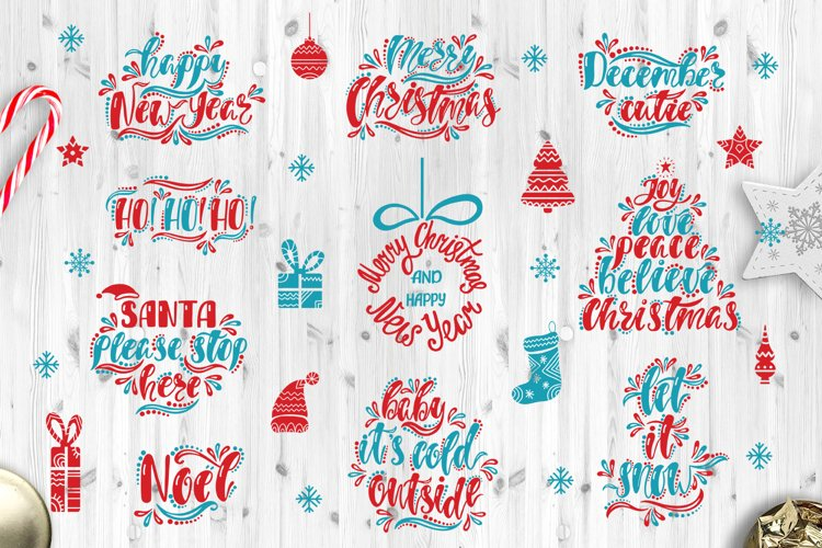 Christmas SVG Bundle. Holiday vector clipart. Cutting Files.