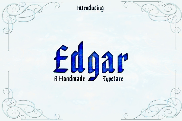 EDGAR, Handmade Gothic Typeface example image 1