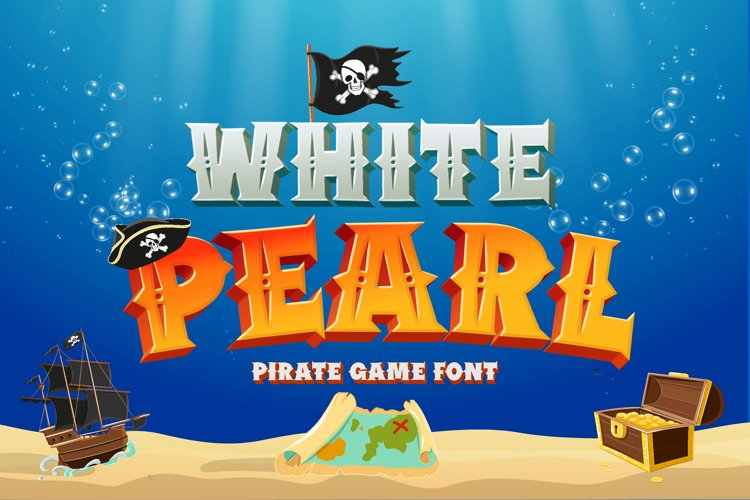 White Pearl - Gaming Font example image 1