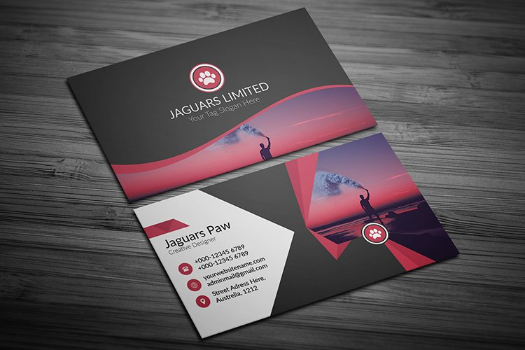 Corporate Creative Business Card Template Design example image 1
