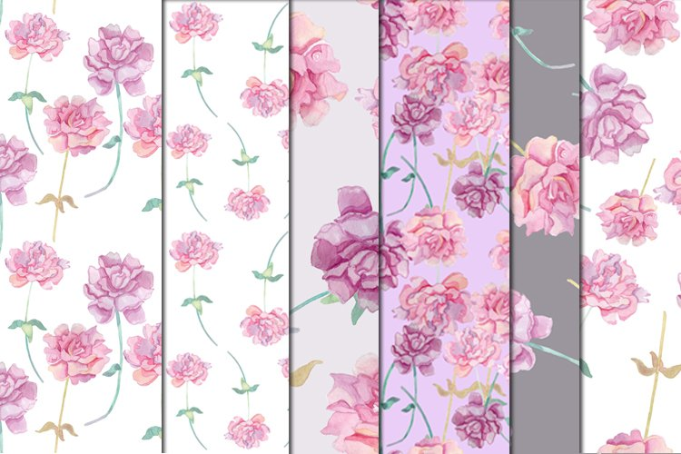 pion floral seamless pattern example image 1