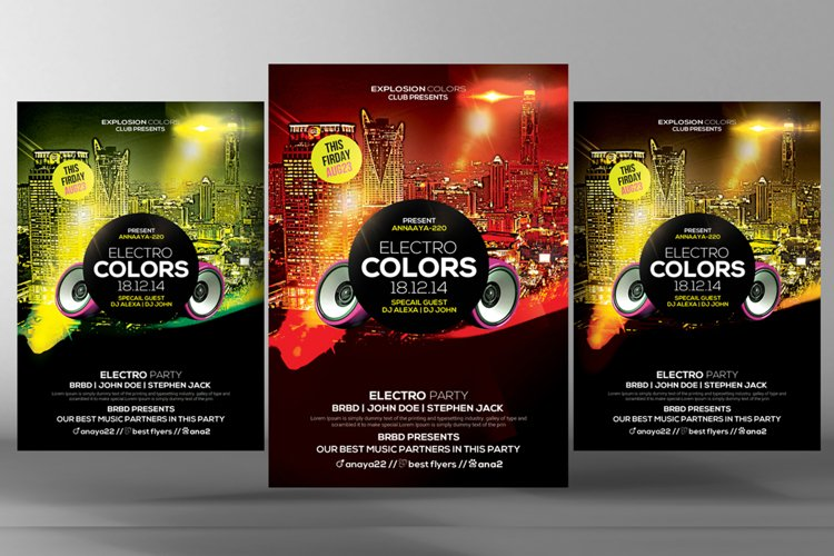 Electro Colors Flyer example image 1