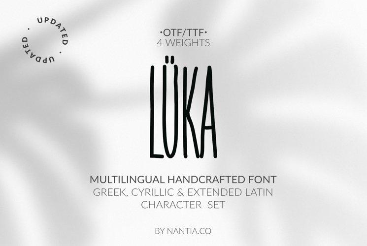 LÜKA | HandWritten Multilingual Font