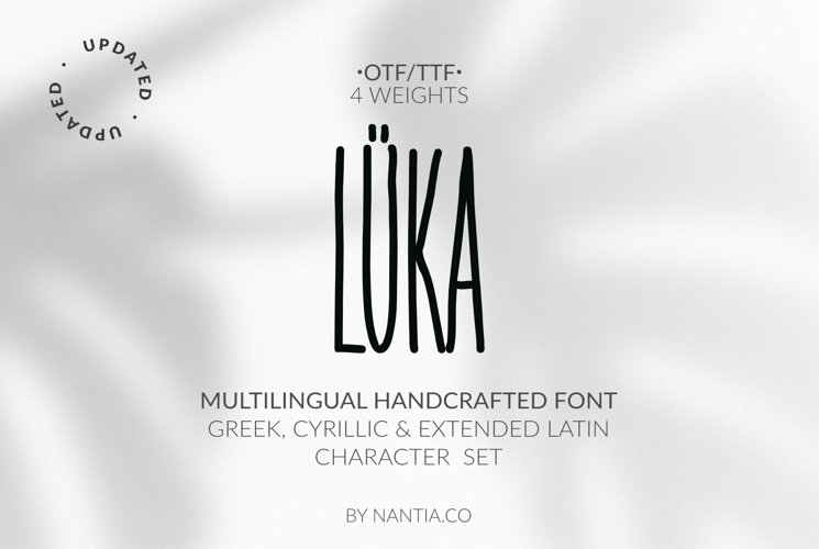 LÜKA | HandWritten Multilingual Font example image 1