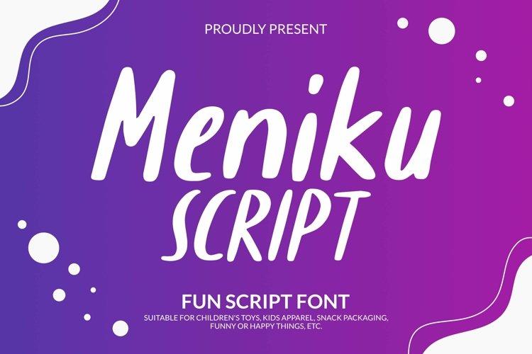 Web Font Meniku Script Font example image 1