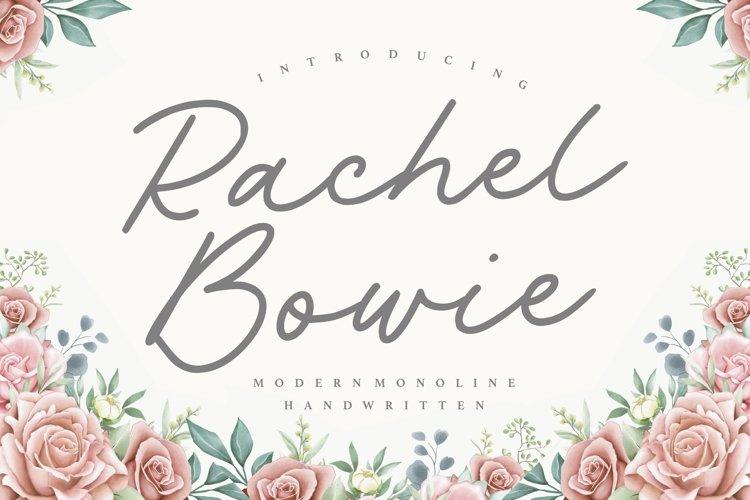 Rachel Bowie Modern Monoline Handwritten Font example image 1