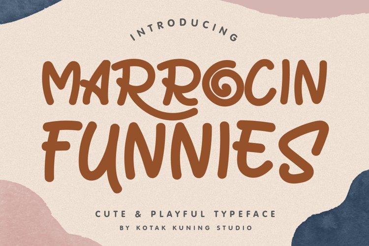 Cute Font - Marrocin Funnies example image 1