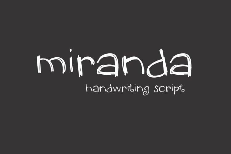 Miranda Font example image 1