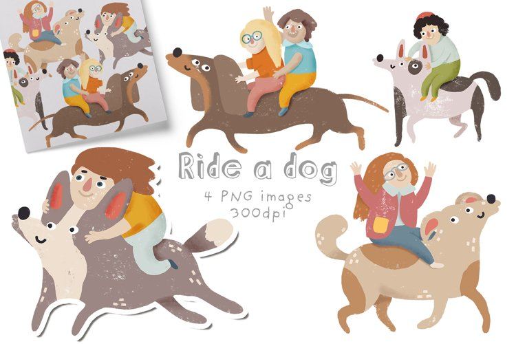 How to ride a dog