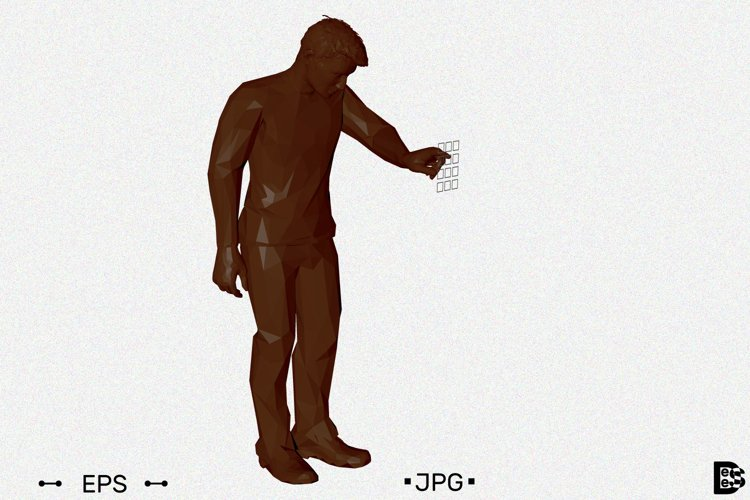 Man entering pin code. 3d Vector illustration. example image 1
