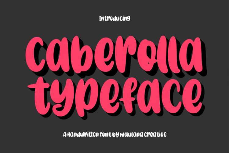 Caberolla Handwritten Font example image 1