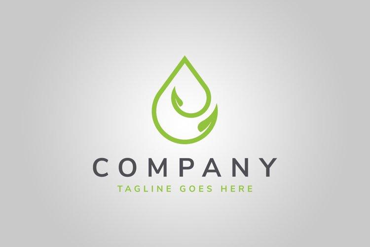 Eco Drop Logo Template