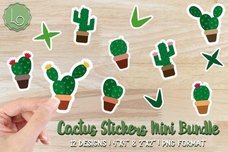 Cactus Stickers Mini Bundle - 12 Printable Stickers