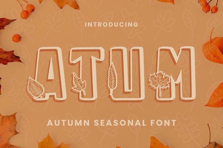 Atum Font example image 1
