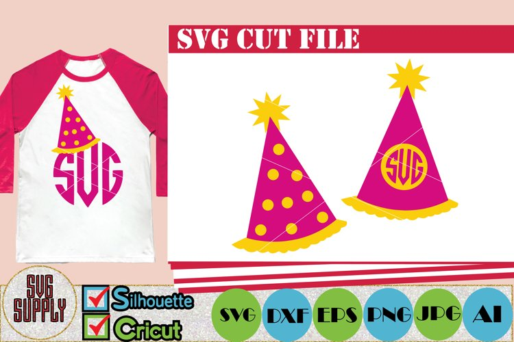 Birthday Party Hat SVG Cut File