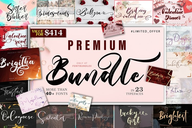 The 23 In 1 Premium Bundle - WEB FONT