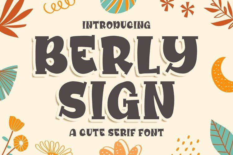 Berly Sign - a Cute Serif Font example image 1