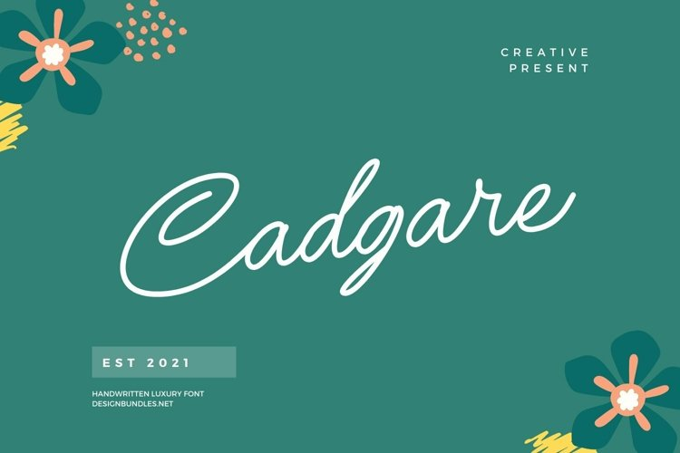 Web Font Cadgare Font example image 1