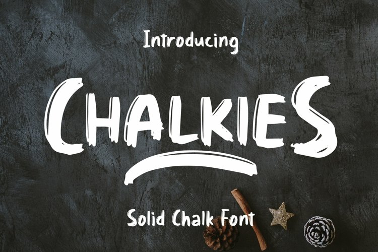 Web Font Chalkies - Solid Chalk Font example image 1