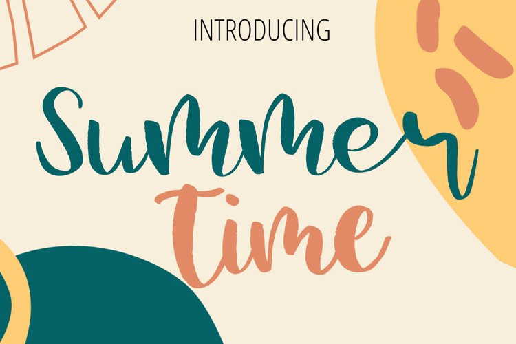 Summer Time Beauty Lettering Font example image 1