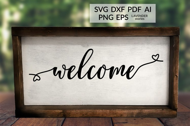 Welcome - Wedding sign SVG cut file example image 1