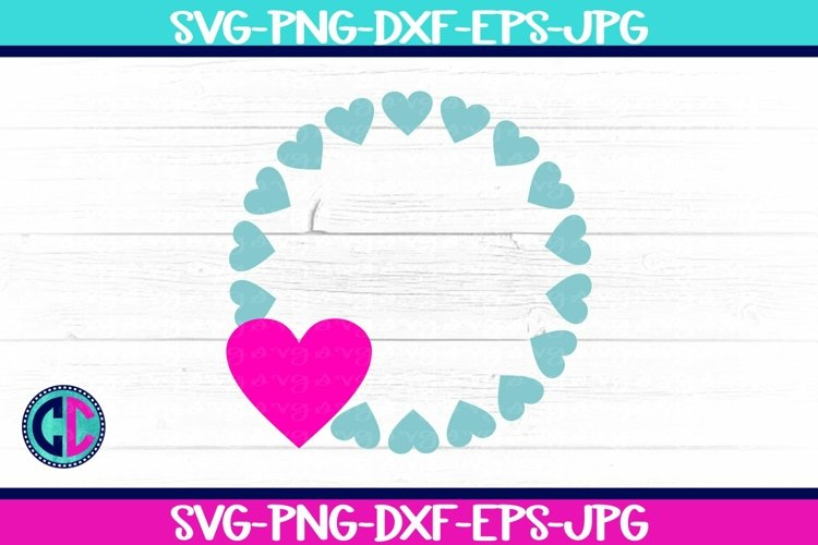 Valentine Heart Monogram svg example image 1