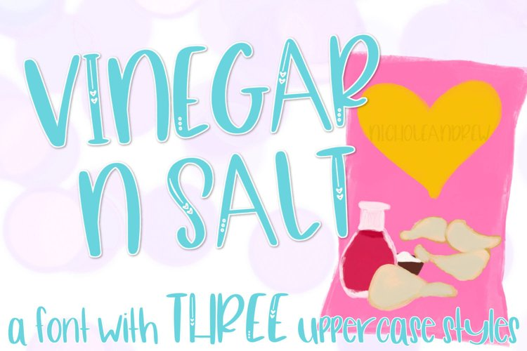 Vinegar N Salt - A Font Trio-ish example image 1