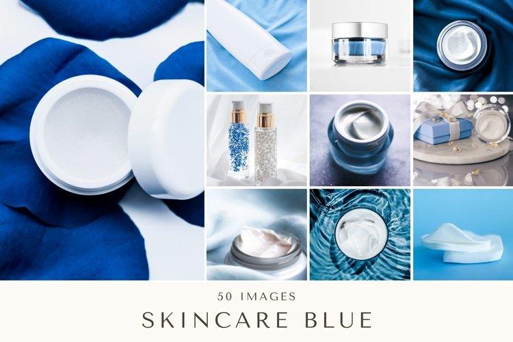 50 Images | Skincare Blue Stock Photo Bundle