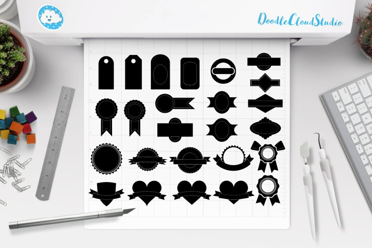 Labels SVG, Price Tag Label svg files for Silhouette Cameo and Cricut. Label clipart PNG included, clipart PNG transparent example image 1