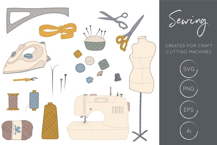 Sewing Clipart, Sewing Machine Clipart, Crafts Clipart, Sewing Craft Clipart