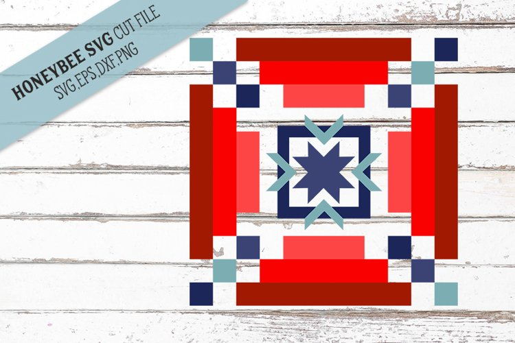 Americana Strippy Barn Quilt SVG Cut File example image 1
